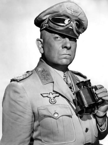 Erich Von Stroheim as Field Marshal Erwin Rommel Five Graves to Cairo