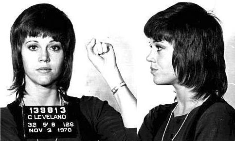 JANE FONDA 1970 Excercising her first amendment rights of free speech!