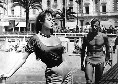 BRIGITTE BARDOT 1955 Cannes Film Festial
