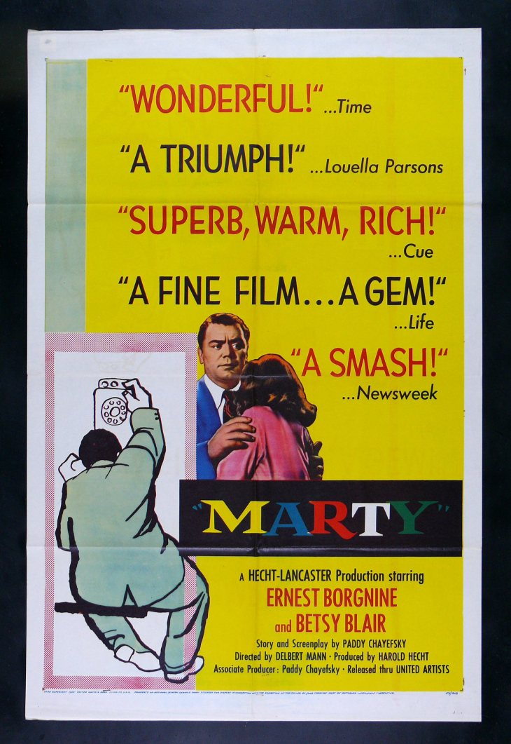 WINNER Best Picture 1955 MARTY