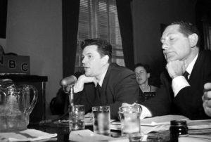 John Garfield testified, suffered a heart attack under the strain & died in 1952
