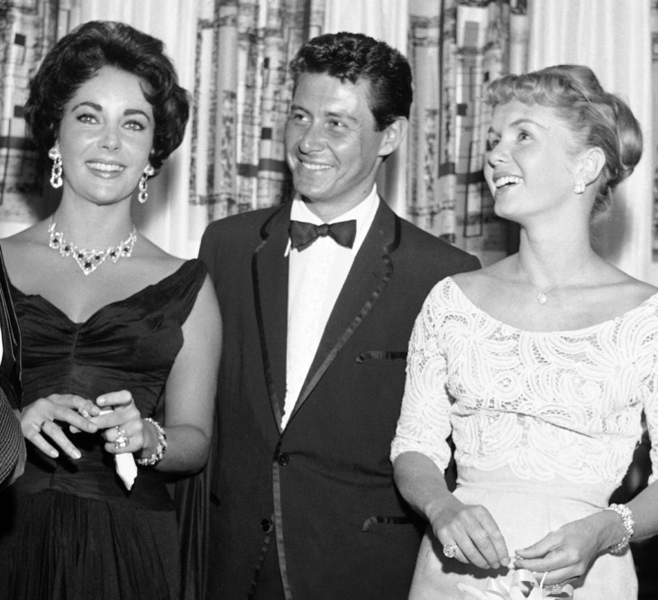 (Left) ELIZABETH TAYLOR (Center) EDDIE FISHER (Right)  DEBBIE REYNOLDS