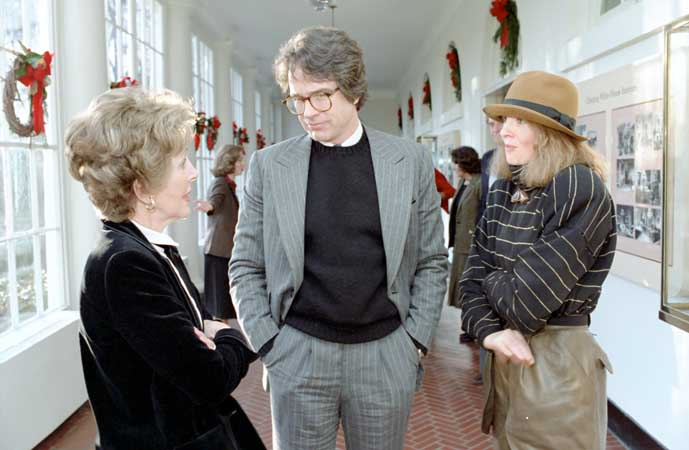 1981 The beginning of the end... left: NANCY REAGAN center: WARREN BEATTY right: DIANE KEATON