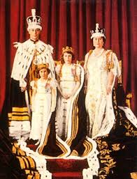 CORONATION OF KING GEORGE VI  pictured with Queen Mother, Princess Margaret & Princess Elizabeth (QUEEN ELIZABETH II)