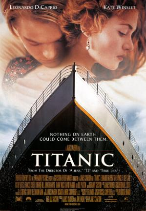 WINNER BEST PICTURE 1997 TITANIC #1 AT THE BOX OFFICE  $2.81 BILLION