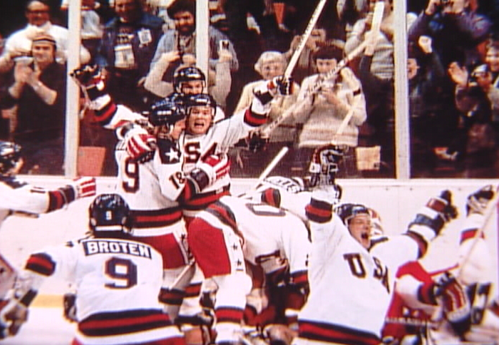 U.S.A. DEFEATS THE SOVIET UNION 1980 WINTER OLYMPICS