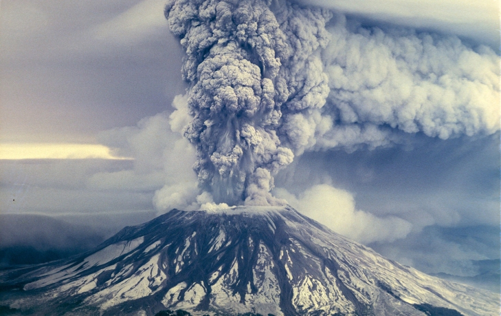 MOUNT ST. HELEN BLOWS ITS TOP IN 1980