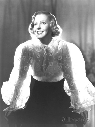 SNUBBED by the ACADEMY BEST ACTRESS 1935 JEAN ARTHUR 1900-1991 THE WHOLE TOWN`S TALKING