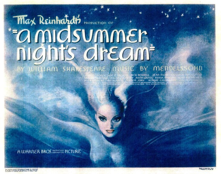 NOMINEE  BEST PICTURE 1935 A MIDSUMMER NIGHT'S DREAM