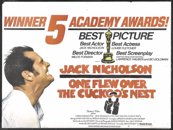 WINNER BEST PICTURE 1975 ONE FLEW OVER THE CUCKOO`S NEST