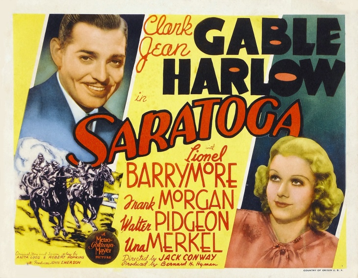 #9 MOVIE AT THE BOX OFFI CE 1937 SARATOGA